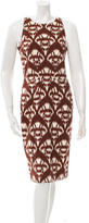 Oscar de la Renta Sleeveless Printed Dress w/ Tags