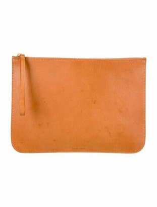 Mansur Gavriel Leather Clutch Brown