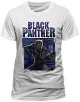 Black Panther Men's Geometric T-Shirt - White