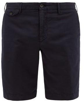 Incotex Chinolino Linen-blend Twill Bermuda Shorts - Mens - Navy