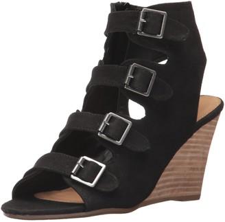 Report Women's Sadah Wedge Sandal Black 10 M US