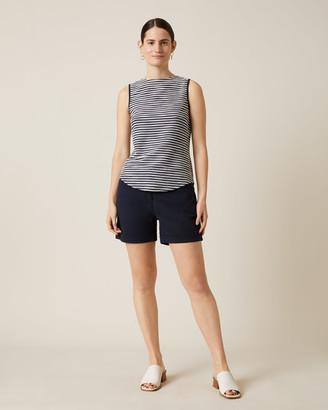Jigsaw Textured Stripe Sleeveless Top