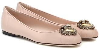 Dolce & Gabbana Devotion leather ballet flats