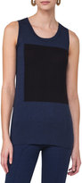 Akris Punto Sleeveless Colorblock Top, Blue Pattern
