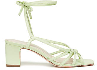 Loeffler Randall Libby Knotted Wrap Block-Heel Sands