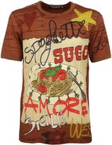 Dolce & Gabbana Orange Spaghetti Printed T-shirt