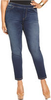 7 For All Mankind Seven7 Jeans Plus Size Jeans, Cropped Pull-On Skinny