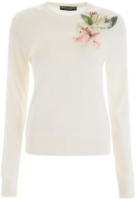 Dolce & Gabbana Flower Applique Sweatshirt