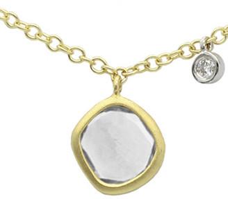 Meira T 14K 0.67 Ct. Tw. Diamond & Blue Labradorite Necklace