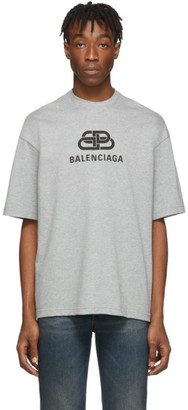 Balenciaga Grey Vintage BB T-Shirt