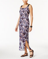 NY Collection Petite Printed Column Maxi Dress