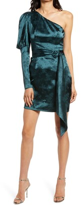 Chi Chi London One-Shoulder Body-Con Satin Dress