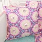 Caden Lane Paige Ruffle Square Throw Pillow in Purple