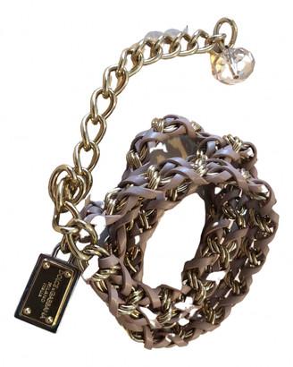 Dolce & Gabbana Pink Leather Belts