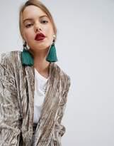 Asos XL Pearl and Tassel Drop Earrings
