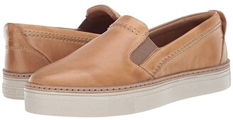 Lucchese After-Ride Slip-On (Tan Burnished) Women's Shoes