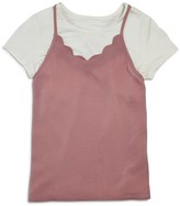 Aqua Girls' Layered Camisole Top, Big Kid - 100% Exclusive