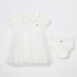 River Island Baby Angel's Face cream dress with knickers