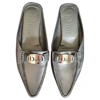 Christian Dior Black Leather Mules & Clogs