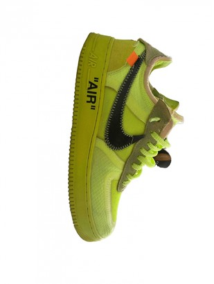 Nike x Off-White Air Force 1 Yellow Leather Trainers
