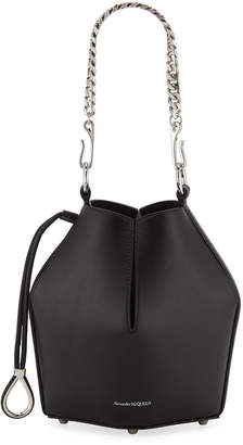 Alexander McQueen Small Smooth Leather Bucket Bag