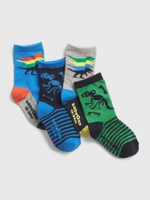 Gap Toddler Dino Crew Socks (4-Pack)