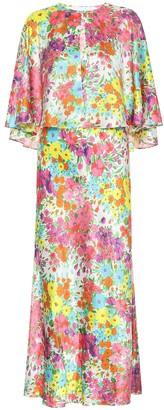 Les Rêveries Exclusive to Mytheresa Floral silk midi dress