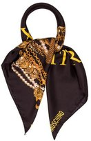 Moschino Silk Luxury Is Relative Scarf