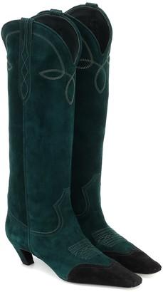 KHAITE Dallas suede knee-high boots