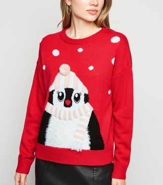 New Look Matching Family Penguin Christmas Jumper