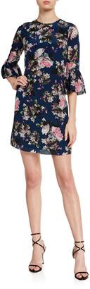 Erdem Elijah Emma Floral Print Silk Dress