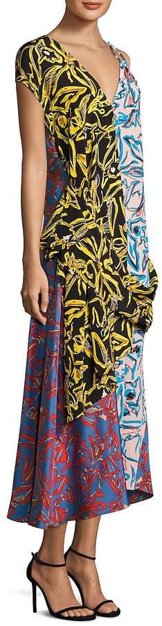 Diane von Furstenberg Women's Printed Silk Dress