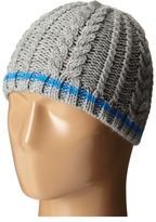 San Diego Hat Company Kids KNK3457 Cable Knit Beanie with Color Contrast Stripe (Little Kids/Big Kids)