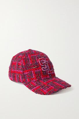 Saint Laurent Embroidered Wool-blend Tweed Baseball Cap - 56