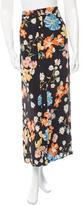 Sea Floral Print Silk Skirt w/ Tags