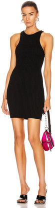 Alexander Wang Shrunken Rib Tank Dress in Black | FWRD