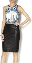 Romeo & Juliet Couture Scuba Crop Top
