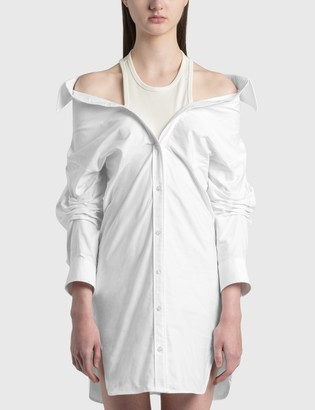 alexanderwang.t Off-Shoulder Shirt Dress With Inner Tank