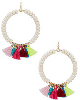 Anna & Ava Marissa Tasseled Beaded Hoop Earrings