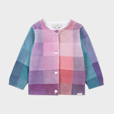 Paul Smith Baby Girls' Pastel-Check 'Madigan' Knitted Cardigan