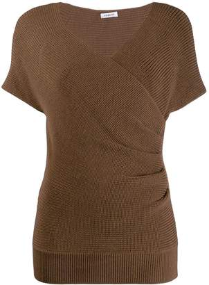 P.A.R.O.S.H. wrap-style knitted top