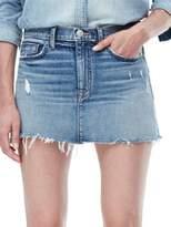 Hudson Distressed Denim Mini Skirt