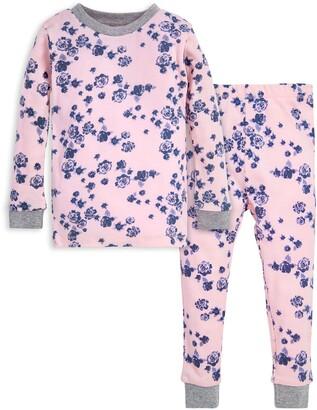 Burt's Bees Indigo Flowers Snug Fit Organic Baby Pajamas