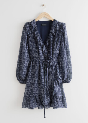 And other stories Ruffled Mini Wrap Dress