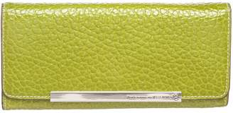 N. Non Signé / Unsigned Non Signe / Unsigned \N Green Leather Wallets
