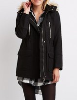 Charlotte Russe Wool Faux Fur-Trim Anorak Jacket