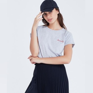 Maison Labiche Obviously Tee Heather Grey - S