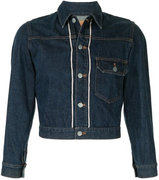 Issey Miyake Pre-Owned 1980's Sports Line cropped denim jacket