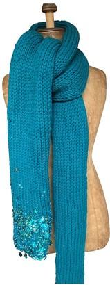 Dries Van Noten Turquoise Wool Scarves