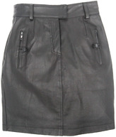 Leather Skirt w/ Button Pocket